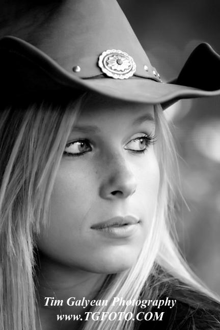 Cowboy hat senior pictures louisburg ks black and white
