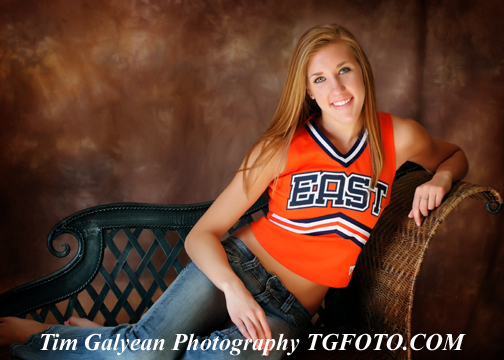 Olathe East Senior pictures portraits outdoor indoor location sessions couch cheerleader drill team dance