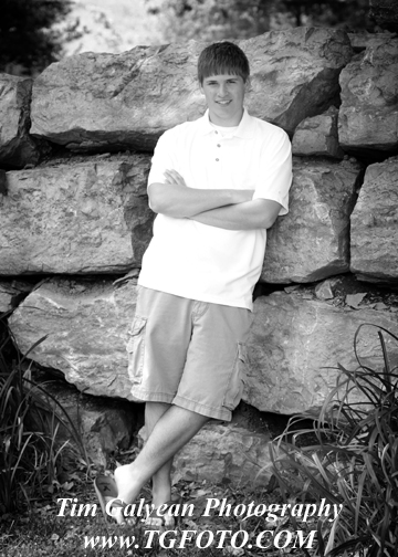Olathe East Senior pictures portraits outdoor indoor location sessions rocks black white guy